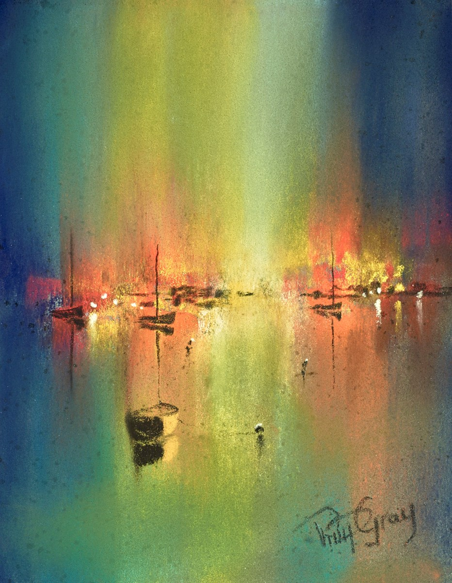Harbour Illuminations I by philip gray -  sized 6x8 inches. Available from Whitewall Galleries